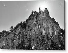 Acrylic Print featuring the photograph Narrows Pinnacle Boulder Canyon by James BO Insogna