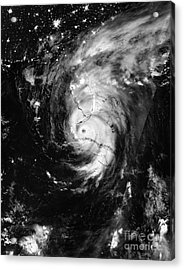 Acrylic Print featuring the photograph Nasa Hurricane Irma Between Cuba And Florida Satellite Image by Rose Santuci-Sofranko