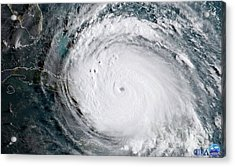 Acrylic Print featuring the photograph Nasa Hurricane Irma Satellite Image by Rose Santuci-Sofranko