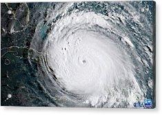 Nasa Hurricane Irma Satellite Image Acrylic Print