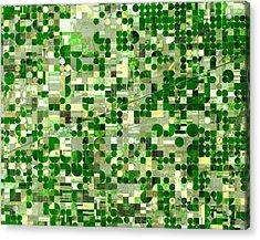 Nasa Image-finney County, Kansas-2 Acrylic Print
