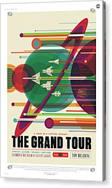 Nasa The Grand Tour Poster Art Visions Of The Future Acrylic Print