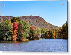 Nashawannuck Pond Fall Colors Acrylic Print