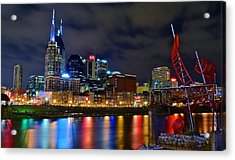 Nashville After Dark Acrylic Print by Frozen in Time Fine Art Photography