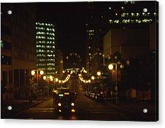 Nashville At Nite - 3 Acrylic Print by Randy Muir