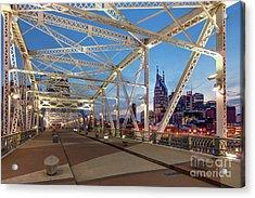 Acrylic Print featuring the photograph Nashville Bridge by Brian Jannsen
