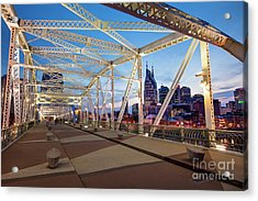 Acrylic Print featuring the photograph Nashville Bridge II by Brian Jannsen