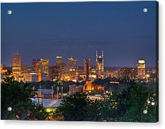 Nashville By Night 2 Acrylic Print