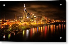 Nashville City Lights Acrylic Print