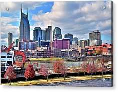 Acrylic Print featuring the photograph Nashville Clouds by Frozen in Time Fine Art Photography