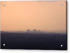 Nashville From The Distance Acrylic Print by Randy Muir