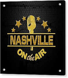 Nashville On The Air Acrylic Print
