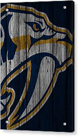 Nashville Predators Wood Fence Acrylic Print by Joe Hamilton