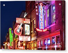 Acrylic Print featuring the photograph Nashville Signs by Brian Jannsen