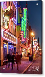 Acrylic Print featuring the photograph Nashville Signs II by Brian Jannsen