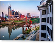 Nashville Skyline At Dawn Acrylic Print