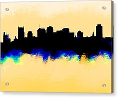 Nashville  Skyline  Acrylic Print by Enki Art