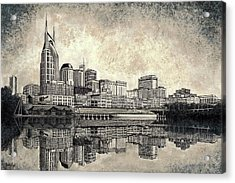 Nashville Skyline II Acrylic Print by Janet King