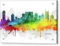 Nashville Skyline Mmr-ustnna05 Acrylic Print by Aged Pixel