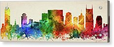 Nashville Skyline Panorama Ustnna-pa03 Acrylic Print