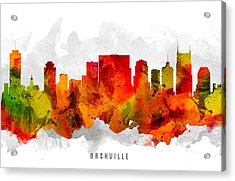 Nashville Tennessee Cityscape 15 Acrylic Print by Aged Pixel