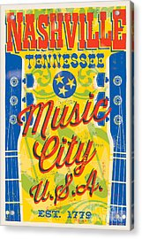 Nashville Tennessee Poster Acrylic Print by Jim Zahniser