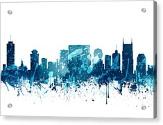 Nashville Tennessee Skyline 19 Acrylic Print by Aged Pixel