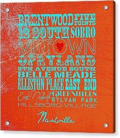 Nashville, Tn V2 Acrylic Print