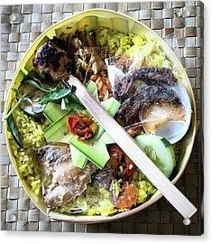 Nasi Yasa, A Special Rice Dish That Is Acrylic Print by Arya Swadharma