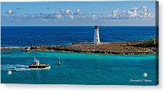 Nassau Harbor Lighthouse Acrylic Print by Christopher Holmes