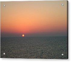 Nassau Sunset Acrylic Print by Gary Wonning