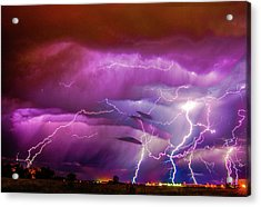 Nasty But Awesome Late Night Lightning 008 Acrylic Print