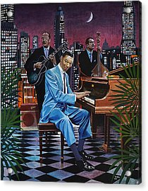 Nat King Cole - After Midnight Acrylic Print by Jo King