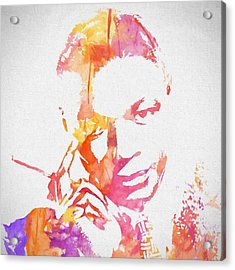 Nat King Cole Watercolor Acrylic Print by Dan Sproul