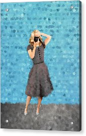 Acrylic Print featuring the digital art Natalie by Nancy Levan