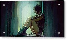 Natalie Portman  Acrylic Print by Afterdarkness