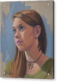 Natalie Acrylic Print by Todd Baxter