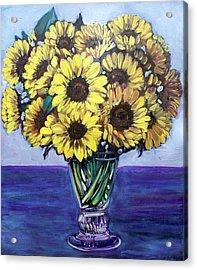 Natasha's Sunflowers Acrylic Print by Sheila Tajima