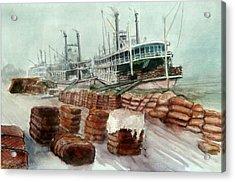 Natchez Cotton Docks  Acrylic Print