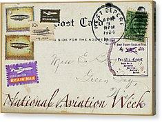 National Aviation Week Postcard Acrylic Print