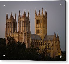 National Cathedral At Twilight Acrylic Print