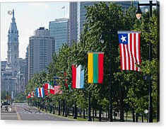 National Flags Of Various Countries Acrylic Print by Panoramic Images