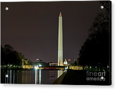Acrylic Print featuring the photograph National Mall At Night by Angela DeFrias