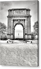 National Memorial Arch In Winter Acrylic Print