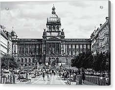Acrylic Print featuring the photograph National Museum At Wenceslas Square. Prague by Jenny Rainbow