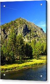 National Park Mountain Acrylic Print by Marty Koch