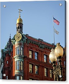 Acrylic Print featuring the photograph National Savings And Trust Company by Greg Mimbs