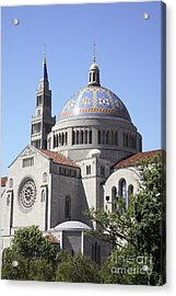 National Shrine Of The Immaculate Conception Acrylic Print by William Kuta