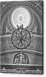 National Statuary Hall Washington Dc Bw Acrylic Print