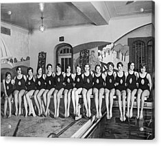 National Swimming Champions Acrylic Print by Underwood Archives